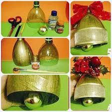 creative ideas diy bell ornament from plastic bottles
