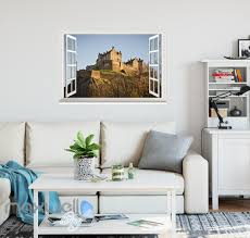 edinburgh scotland hill edinburgh trees window wall sticker art
