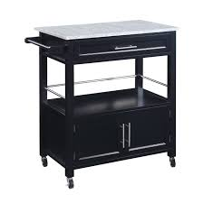 linon cameron kitchen cart with granite top 464809blk01u