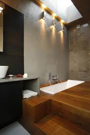 apartments great apartment bathroom ideas lacquered wooden floor