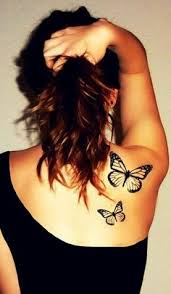 beautiful butterfly firl tattoos