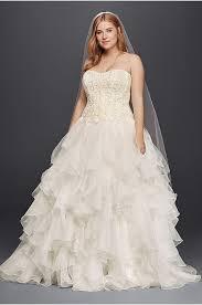 s bridal oleg cassini cap sleeve plus size wedding dress david s bridal