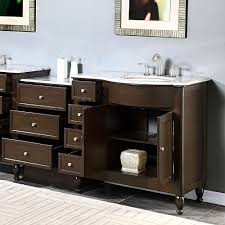 55 Inch Bathroom Vanities by 58 U0026 034 Bathroom Single Vanity Lavatory Bath Cabinet Off Center