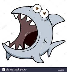 vector illustration of angry shark cartoon stock vector art