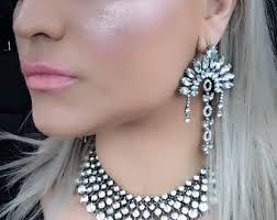 Huge Chandelier Earrings Oversized Earrings Etsy