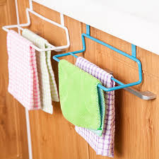 kitchen cabinet towel rail new metal towel hanging rack cabinet door towel hook multi purpose