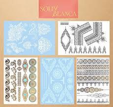 mandala tattoo zum aufkleben temporäre und wasserfeste klebetattoos 1 set viele farben 5