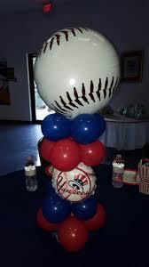 baseball balloon centerpiece baseball theme baby shower