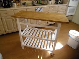 furniture wooden movable kitchen island with pull out leaves and