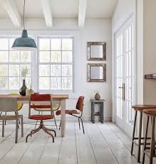 Paint Dining Room Chairs by Dining Area With Rustic Style Wood Table And Modern Chairs
