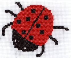 ladybug free cross stitch pattern to print