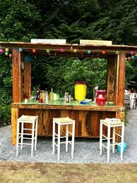 diy pallet outdoor bar and stools the owner builder network