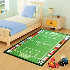 Childrens Play Rug by Funky Buys Kids Childrens Football Pitch 100 X 133cm Rug Mat