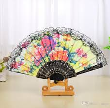 hand held fans for church spanish floral folding hand fan flowers pattern lace handheld fans