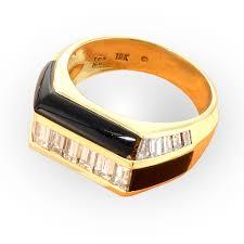 engagement rings chicago black onyx diamond ring lester lampert full service jeweler
