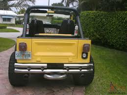 cj jeep yellow supercharged cj 7 jeep