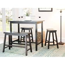 Pub Style Dining Room Set by Safavieh Ronin 4 Piece Pub Table Set Espresso Walmart Com