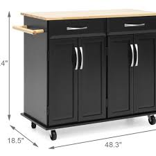 kitchen storage cabinet cart food 4 less utopia alley ft75bk kitchen cart with storage