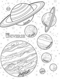 solar system coloring solar system space