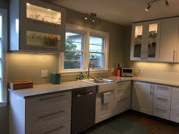 modern kitchen ikea led lighting over kitchen sink ikd ikea modern kitchen makeover