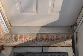Wooden Exterior Door Threshold Bronze Exterior Door Threshold Replace An Exterior Door