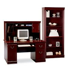 Cherry Wood Computer Desk With Hutch Bush Birmingham Computer Desk And Hutch With Bookcase Hayneedle