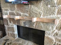 Wood Mantel Shelf Pictures by How To Build And Hang A Mantel On A Stone Fireplace Shanty 2 Chic
