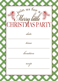 printable christmas party invitations templates printable