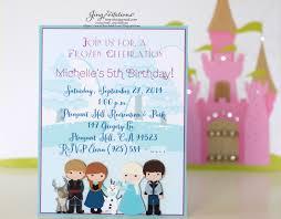 Frozen Invitation Cards Disney Frozen Jingvitations