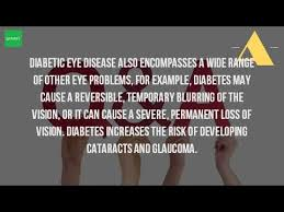 Can Cataracts Cause Blindness Can Diabetes Cause Temporary Blindness Youtube