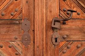 free photo wrought iron wood door input door wooden door max