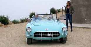 vintage corvette blue supermodel kendall jenner takes jay leno for a spin in her u002756
