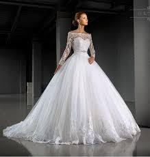 Winter Wedding Dress Stunning Bateau Neck Winter Wedding Dresses Long Sleeve Illusion