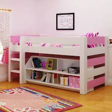 Tesco Bunk Bed Lollipop Mid Sleeper Bed Finish White Pink Co Uk