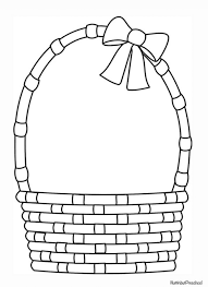 coloring pages basket coloring pages easter egg basket coloring