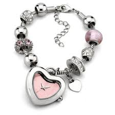 pink bracelet watches images Silver and pink ladies bracelet watch rs 200 piece golden watch jpg
