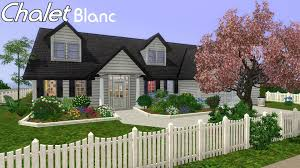 chalet homes sims 3 house building chalet blanc in sims 3 youtube