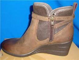 ugg australia womens emalie brown stout leather ankle boot 7 ebay ugg australia emalie stout waterproof leather ankle boots size us 10
