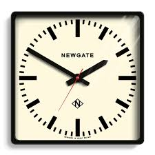 Wall Watch by Large Square Industrial Wall Clock Black Newgate Clocks Underpass