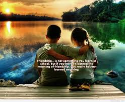 quote kids friendship image with kids and quote