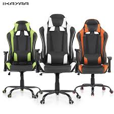 Racing Seat Desk Chair Aliexpress Com Buy Ikayaa Ergonomic Racing Style Gaming Office