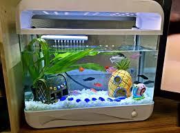 3pcs set spongebob crusty pineapple easter island fish tank