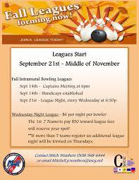 fall bowling league registration uscg base cape cod mwr