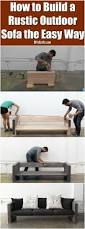 Build Outdoor Wood Furniture by Best 25 Homemade Outdoor Furniture Ideas On Pinterest Outdoor