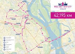 Marathon Route Map by Routes U2013 Wizz Air Kyiv City Marathon