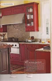Fuel Storage Cabinet Kitchen Country Kitchen Red Cabinets Wood Backsplash Dual Fuel