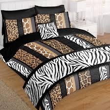 safari animal bed in bag duvet set with leopard zebra giraffe