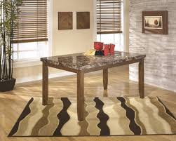 ashley d328 25 lacey dark brown dining room table with faux marble top