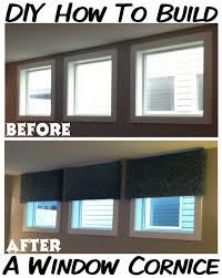 How To Make Window Cornice How To Make Your Own Diy Cornice Window Treatment For Less Than