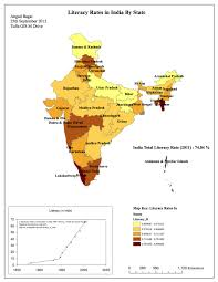 South India Map by Angad Bagai U2013 Literacy Rates In India By State South Asia And